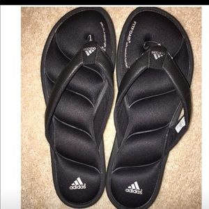 Adidas flip flops, size 9